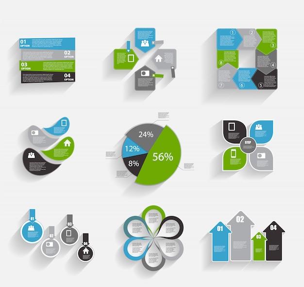Colección de plantillas de infografía para empresas