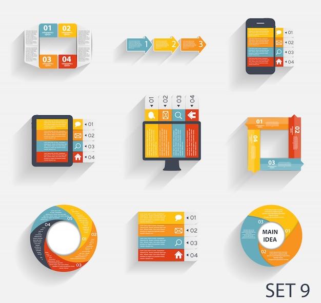 Colección de plantillas de infografía