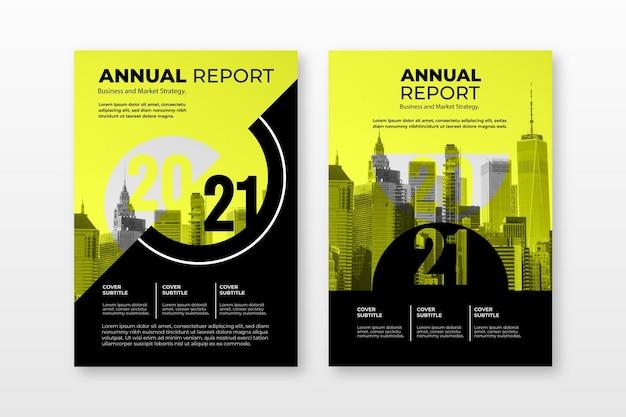Colección de plantillas de informes anuales abstractos