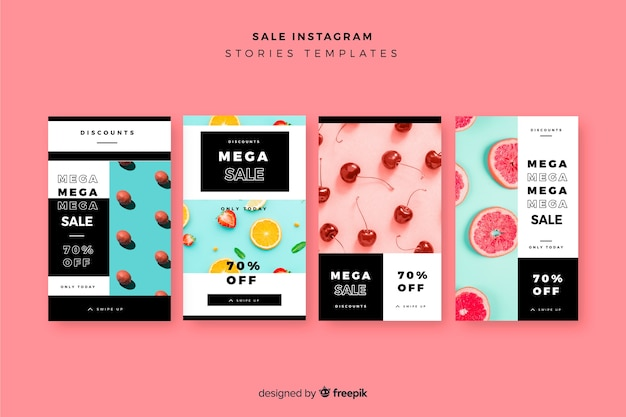Colección de plantillas de instagram stories de rebajas