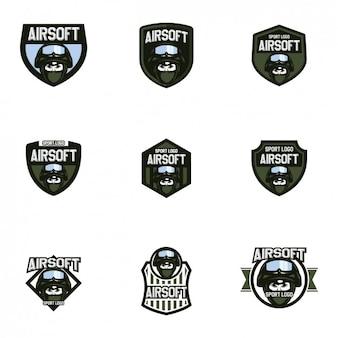 Colección de plantillas de logos de airsoft