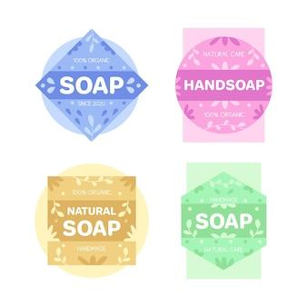 Colección de plantillas de logos de jabón
