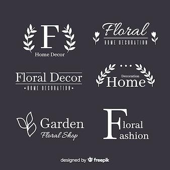 Colección de plantillas de logos monogramas de boda