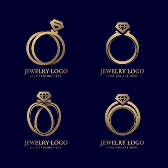 Colección de plantillas de logotipo de anillo degradado