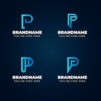 Colección de plantillas de logotipo degradado p