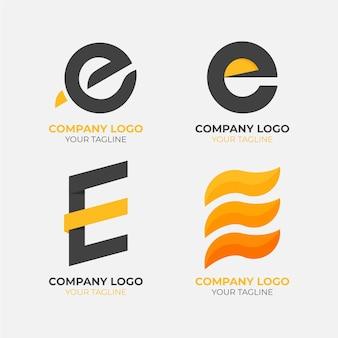 Colección de plantillas de logotipo de diseño plano e