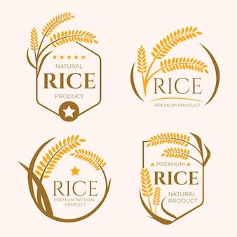 Colección de plantillas de logotipo de empresa de granos