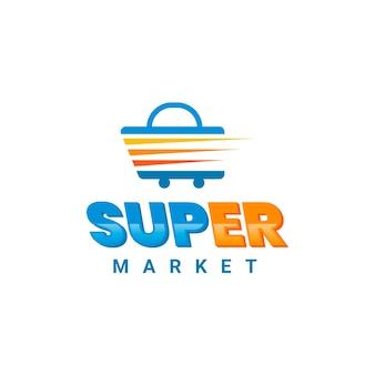 Colección de plantillas de logotipo de empresa de supermercado