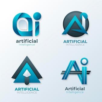 Colección de plantillas de logotipo de gradiente ai