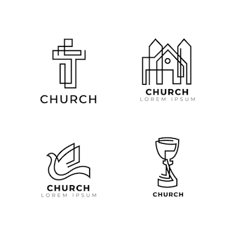 Colección de plantillas de logotipo de iglesia