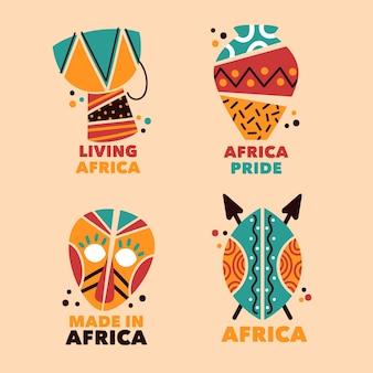 Colección de plantillas de logotipos de áfrica
