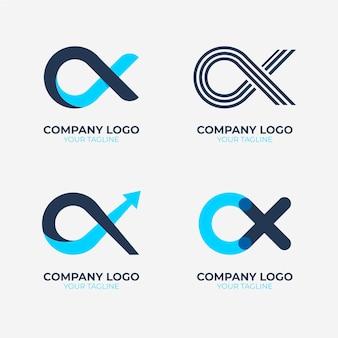 Colección de plantillas de logotipos alfa
