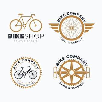 Colección de plantillas de logotipos de bicicletas