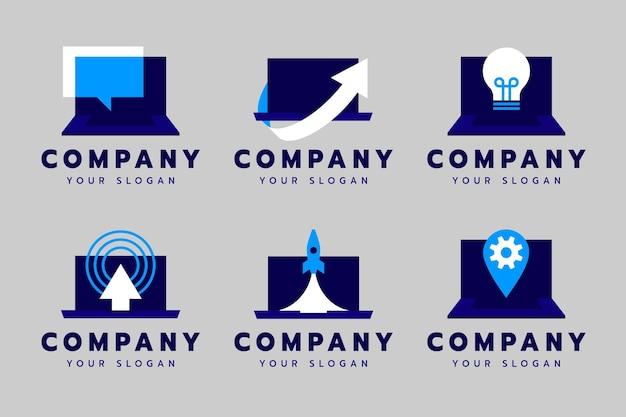 Colección de plantillas de logotipos de computadoras