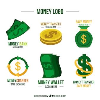 Colección de plantillas de logotipos de dinero