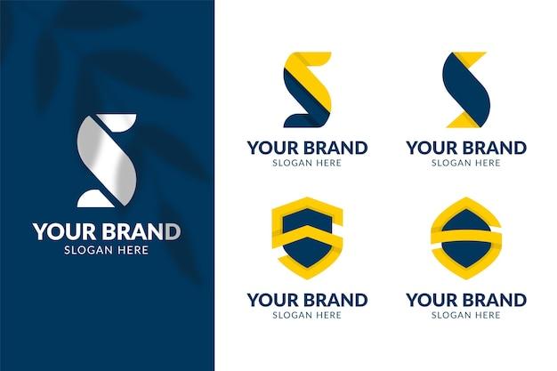 Colección de plantillas de logotipos de diseño plano s