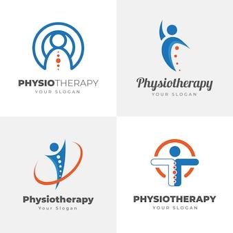 Colección de plantillas de logotipos de fisioterapia