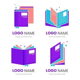Colección de plantillas de logotipos de libros creativos