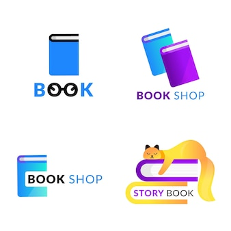 Colección de plantillas de logotipos de libros