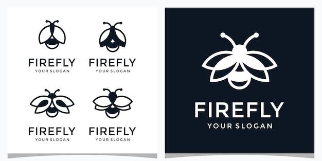 Una colección de plantillas de logotipos de luciérnagas.