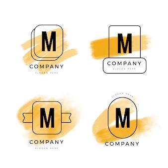 Colección de plantillas con logotipos m