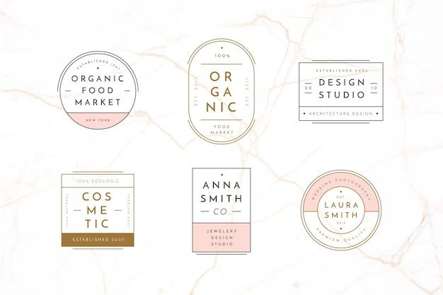 Colección de plantillas de logotipos minimalistas
