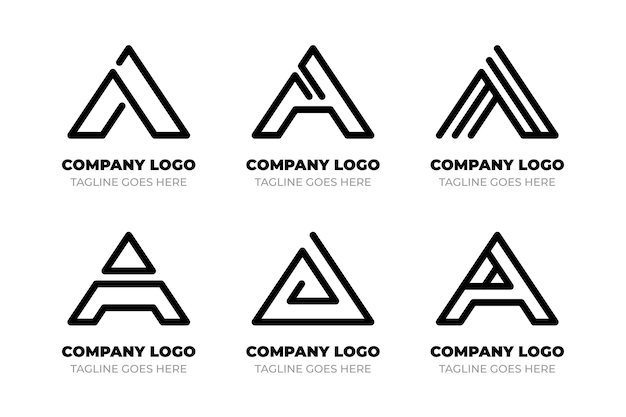 Colección de plantillas de logotipos planos
