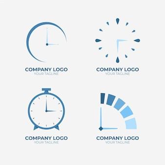 Colección de plantillas de logotipos de tiempo