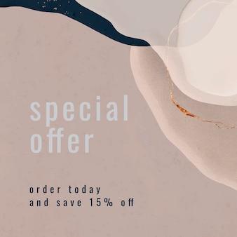 Colección de plantillas de ofertas especiales