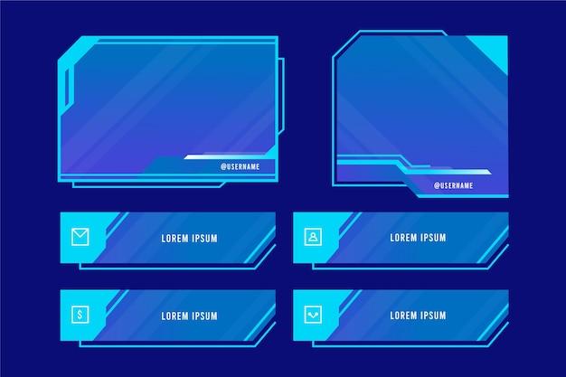 Colección de plantillas de paneles de transmisión de twitch