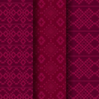 Colección de plantillas de patrones de songket