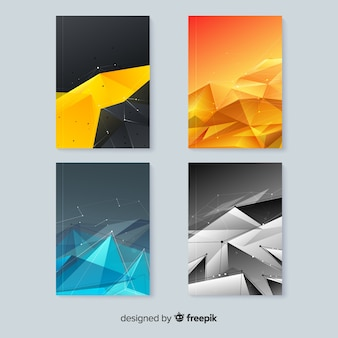 Colección de plantillas de portadas coloridas de tecnología