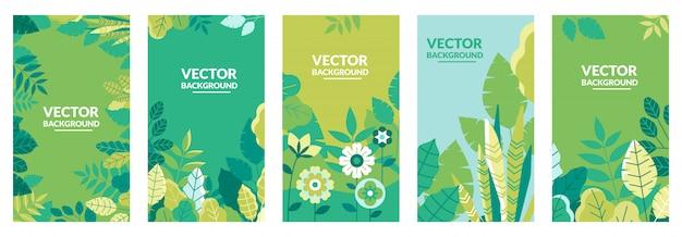 Colección de plantillas de portadas de la naturaleza