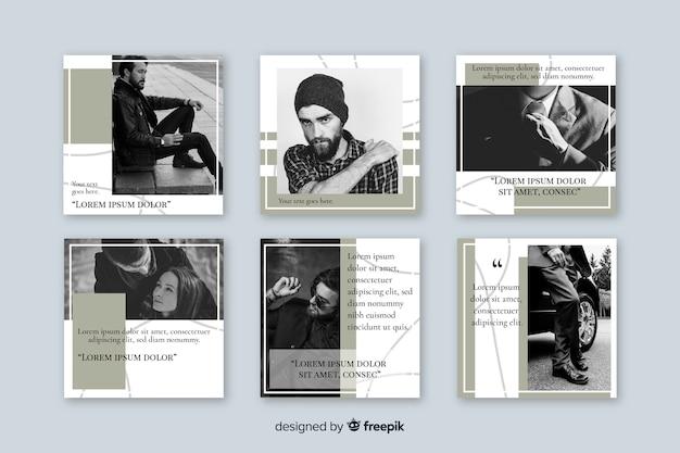 Colección de plantillas de publicaciones de instagram