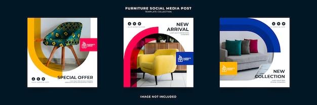 Colección de plantillas de publicaciones en redes sociales de agencias de marketing digital
