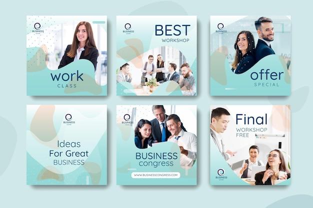 Colección de plantillas de publicaciones de redes sociales empresariales