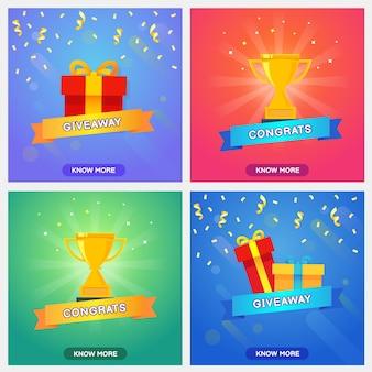 Colección de plantillas de sorteos, recompensa