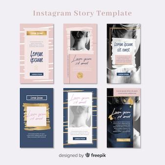 Colección de plantillas de stories de instagram