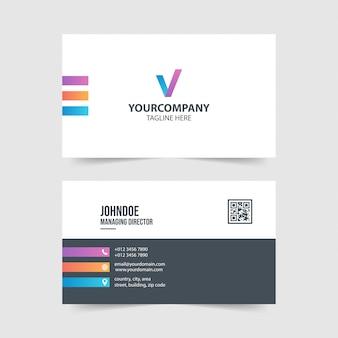 Colección de plantillas de tarjeta de visita simple y moderna