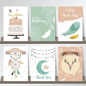 Colección de plantillas de tarjetas para banners