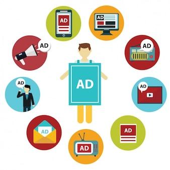 Colección de plataformas de anuncios