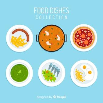 Colección platos de comida deliciosos