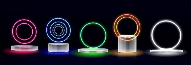 - colección de podio de cristal realista