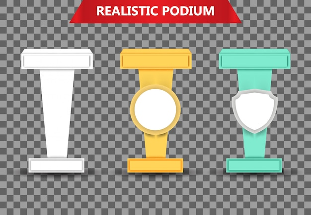 Colección de podios realistas