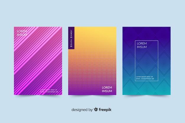 Colección de portada abstracta colorida