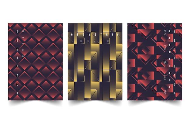 Colección de portada abstracta con diferentes formas