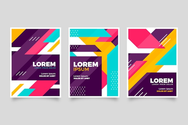 Colección de portada colorida abstracta
