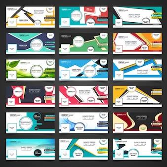 Colección de portada de facebook en estilo moderno