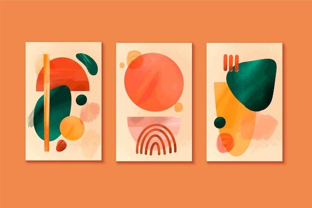 Colección de portadas abstractas de acuarela