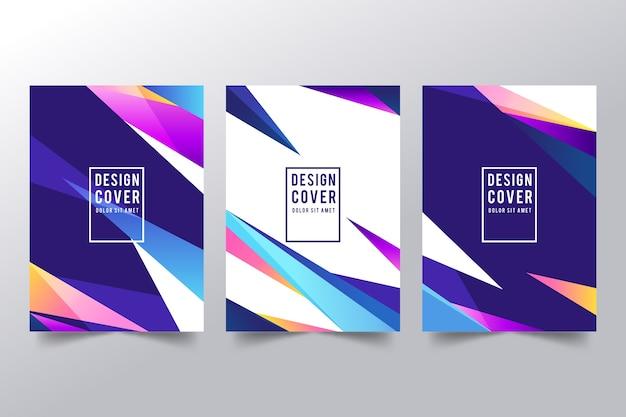 Colección de portadas abstractas coloridas